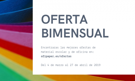 ¡Ya disponible! Oferta bimensual Marzo y Abril 2019
