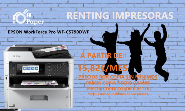 ¡Oferta renting! Impresora Epson WorkForce Pro WF-C5790DWF